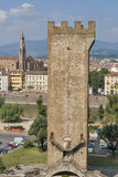 Torre San Niccolo i Florencja pejzaż miejski, Włochy Obrazy Royalty Free