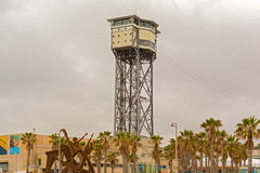 Torre San Sebastia tower, Barcelona, Spain Stock Photo