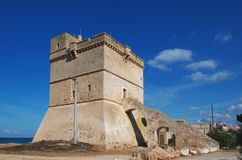 Torre Sant `伊西多里- Salento,意大利 库存照片