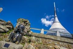 Torre scherzata dell'allerta, Liberec, Ceco Repiblic Fotografie Stock Libere da Diritti