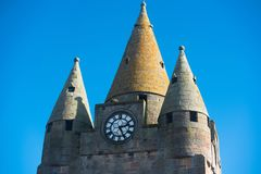 Torre scozzese del castello degli altopiani Fotografia Stock Libera da Diritti