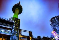 Torre seoul Coreia de Namsan Fotos de Stock Royalty Free