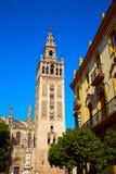 Torre Sevilla Spain di Giralda della cattedrale di Siviglia Immagini Stock
