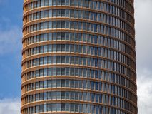 Torre Sevilla. Sevilla Spain 05/12/2018: Sevilla Tower, or Torre Sevilla in spanish, is the highest building in the city and it`s part of a new project to create royalty free stock photo