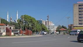 Torre Shkoder di chiesa e della moschea fotografia stock libera da diritti