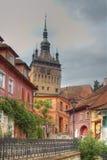 Torre-Sighisoara del reloj, Roamania Fotografía de archivo