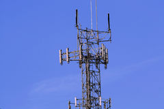 Torre sin hilos del relais Foto de archivo