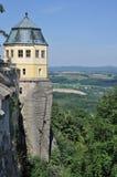 Torre sobre elbe, konigstein fotografía de archivo