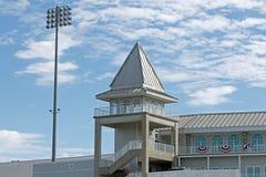Torre sobre Hammond Stadium imágenes de archivo libres de regalías