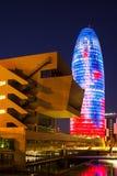 Torre som är agbar i Barcelona Arkivfoton