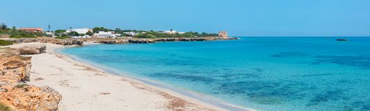 Torre Specchia Ruggeri summer beach, Puglia, Italy royalty free stock photo
