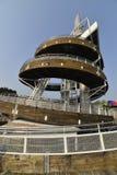 Torre a spirale dell'allerta di Tai Po Waterfront Park Immagine Stock