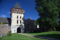Torre storica a Zons, Germania Fotografie Stock