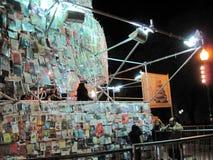 Torre stupefacente di Babel Marta Minujin Buenos Aires 2011 Argentina Fotografie Stock Libere da Diritti