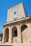Torre sveva normanna Cisternino La Puglia L'Italia Immagine Stock Libera da Diritti
