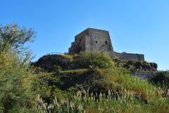 Torre Talao в Scalea, Калабрии стоковые фото