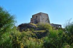 Torre Talao в Scalea, Калабрии стоковая фотография