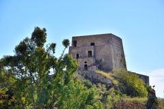 Torre Talao в Scalea, Калабрии стоковая фотография rf