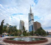 Torre tecnologico da universidade de Batumi o 5 de novembro de 2016 no bastão Fotografia de Stock Royalty Free
