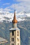Torre tipica della chiesa in Savoia - Francia Immagini Stock