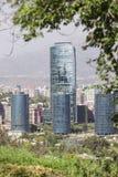 Torre Titanium, Santiago de Chile Imagen de archivo libre de regalías