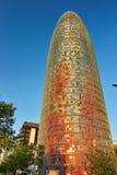 Torre (torn) Agbar, Barcelona Spanien Fotografering för Bildbyråer