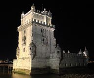 Torre (Torre de Belém, Lisbona) Fotografie Stock