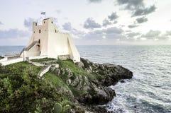 Torre Truglia在斯佩尔隆加,意大利 库存图片