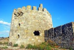 A torre turca na fortaleza de Smederevo fotos de stock