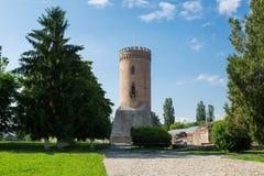 Torre Turnul Chindiei de Chindia fotografía de archivo