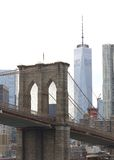 Torre una WTC Tom Wurl del ponte di Brooklyn Immagini Stock