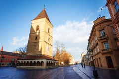 Torre urbana della st (veza) di Urbanova Kosice, Slovacchia fotografia stock