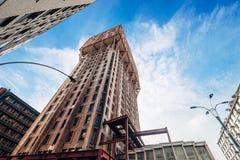 Torre Velasca摩天大楼-米兰,意大利 免版税库存图片