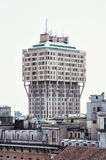 The Torre Velasca is a skyscraper built in 1950s in Milan, Italy Royalty Free Stock Image