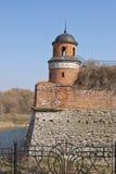 A torre velha da fortaleza Imagens de Stock Royalty Free