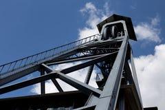 Torre velha da mina de carvão em Bélgica fotos de stock royalty free