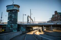 Torre velha da ponte em Copenhaga dinamarca fotografia de stock royalty free
