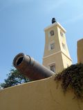 Torre velha da vista Imagens de Stock Royalty Free