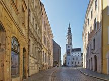 Torre velha de Goerlitz do townhall foto de stock