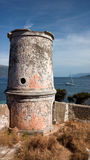 Torre Venetian do farol em Fiskardo, Kefalonia, Grécia Foto de Stock