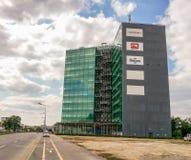 Torre verde, edificio de cristal moderno del negocio, Bucarest Imagen de archivo
