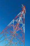 Torre vermelha & branca fotos de stock