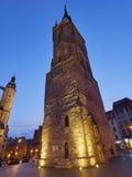 A torre vermelha em Halle um der Saale, Alemanha Foto de Stock Royalty Free