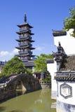 Torre vieja de China en Shangai Fotografía de archivo libre de regalías