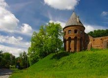 Torre vieja de la abadía benedictina en Jaroslaw polonia Fotografía de archivo