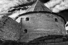 Torre vieja de la fortaleza de Oreshek Shlisselburg Rusia fotografía de archivo