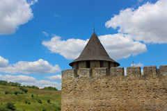 Torre vieja del castillo Imágenes de archivo libres de regalías
