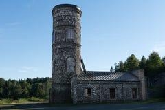 Torre vieja del elevador del cerrado abajo el mío Imagen de archivo