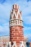 Torre vieja en el parque de Tsaritsyno en Moscú Imagen de archivo