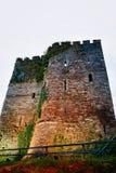 Torre vieja en la ciudad de Brecon en Reino Unido imágenes de archivo libres de regalías